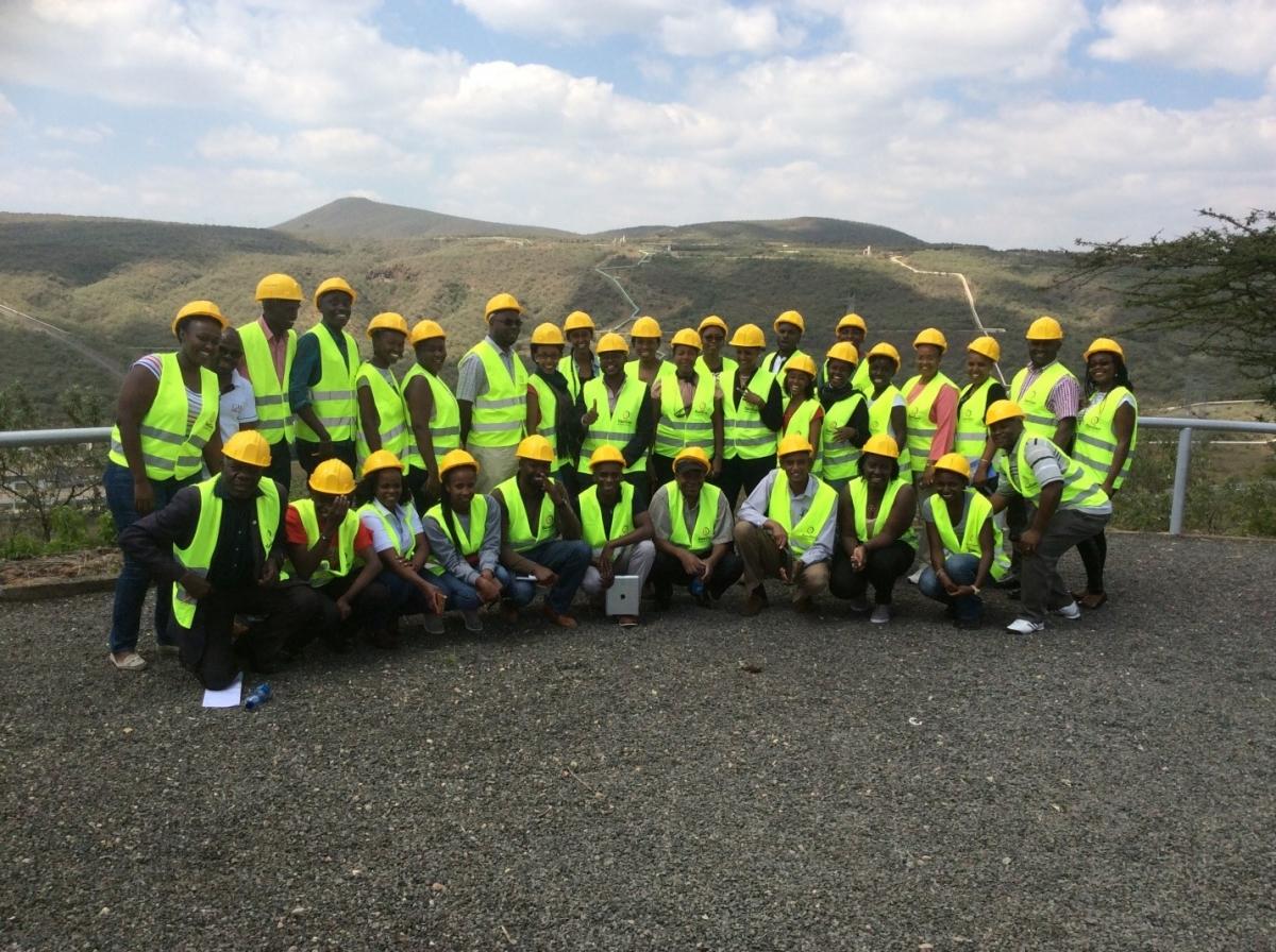 CWEEL technical site visit to Kengen Olkaria 280mw geothermal plant